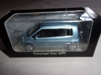1/54 VOITURE MINIATURE 3 INCH VOLKSWAGEN VW SPACE UP CONCEPT CAR UP BLEU NOREV