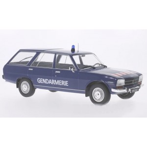 1/18 VOITURE MINIATURE DE COLLECTION Peugeot 504 Break Gendarmerie-1976-MDG18036
