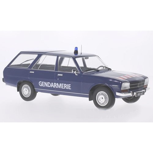 1 18 voiture miniature de collection peugeot 504 break gendarmerie 1976 mdg vente de voitures. Black Bedroom Furniture Sets. Home Design Ideas