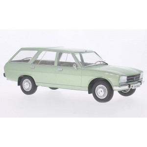 1/18 VOITURE MINIATURE DE COLLECTION Peugeot 504 Break vert métallisé-1976-MDG18037
