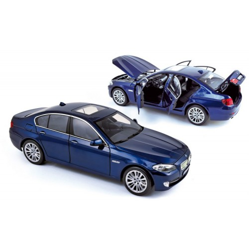 1 18 voiture miniature de collection bmw 550 i bleu int rieur noir 2010 norev vente de. Black Bedroom Furniture Sets. Home Design Ideas