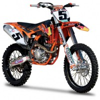 1/18 MOTO MINIATURE DE COLLECTION KTM 450 SX-F-BURAGO