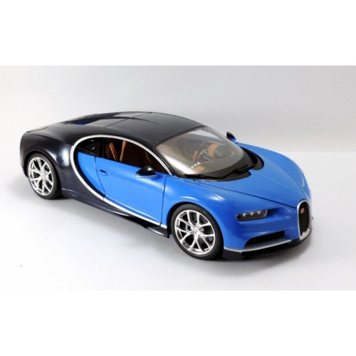 1 18 voiture miniature bugatti chiron bleu 2016 burago vente de voitures miniatures pour. Black Bedroom Furniture Sets. Home Design Ideas