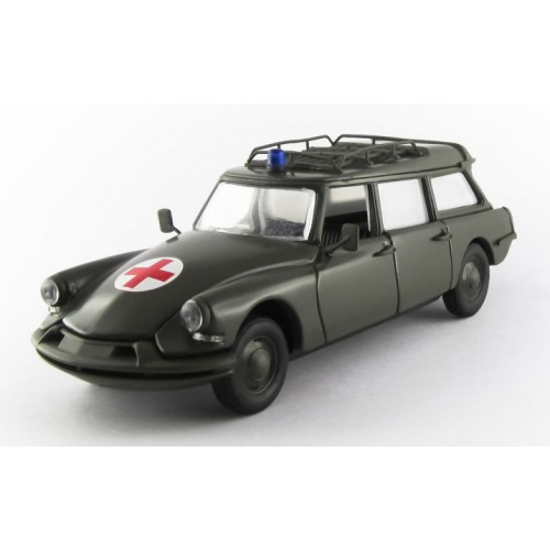 1 43 voiture miniature citroen ds break ambulance militaire 1960 rio vente de voitures. Black Bedroom Furniture Sets. Home Design Ideas