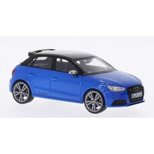 1 43 voiture miniature de collection audi s1 sportback bleu noir 2014 neo vente de voitures. Black Bedroom Furniture Sets. Home Design Ideas