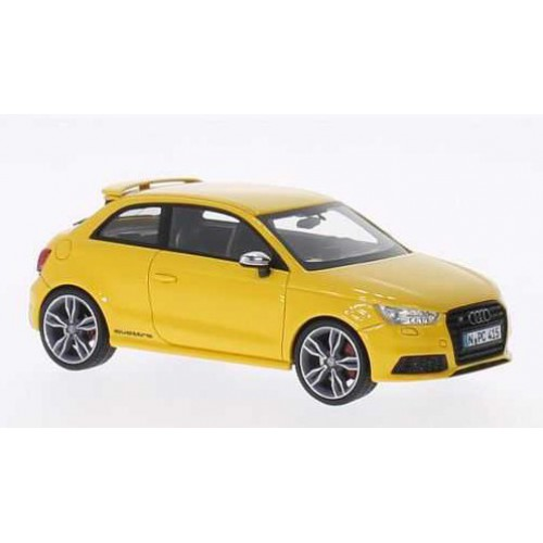 1 43 voiture miniature de collection audi s1 jaune 2014 neo vente de voitures miniatures pour. Black Bedroom Furniture Sets. Home Design Ideas