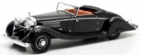 1/43 VOITURE MINIATURE DE COLLECTION Hispano Suiza K6 cabriolet noir-1935-MATRIX