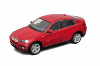 1/18 VOITURE MINIATURE DE COLLECTION BMW X6 rouge-WELLYWEL18031RED