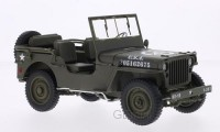 1/18 VEHICULES FORCES DE L'ORDRE MILITAIRE Jeep Willys U.S. Army-WELLYWEL18055C