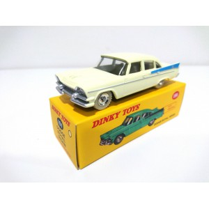 VOITURE MINIATURE DE COLLECTION Dodge Royal Sedan crème et bleue- DINKY TOYS ATLAS-191