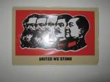 Plaque en metal publicitaire united we stand