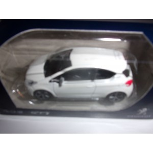 1/64 VOITURE MINIATURE DE COLLECTION 3INCHES PEUGEOT 208 GTI-2012 BLANCHE NOREN314744
