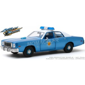 "1/24 PLYMOUTH FURY 1975 ARKANSAS STATE POLICE ""SMOKEY & THE BANDIT (1977)""GREENLIGHT GREEN84102"