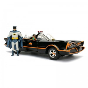1/18 BATMOBILE 1966 AVEC FIGURINES BATMAN ET ROBIN-JADA98625