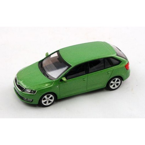 1 43 voiture miniature de collection skoda rapid spaceback vert metal abrexabr143ab030qa vente. Black Bedroom Furniture Sets. Home Design Ideas