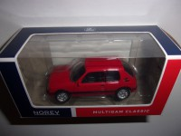 1/54 3-INCHES VOITURE MINIATURE DE COLLECTION PEUGEOT 205 GTI ROUGE NOREV319251