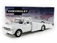 1/18 CAMION CHEVROLET MINIATURE DE COLLECTION CHEVROLET CAMION PLATEAU 1967 BLANC-ACME1801700