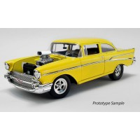 "1/18 CHEVROLET BEL AIR 1957 ""THE HOLLYWOOD KNIGHTS (1980)"" JAUNE-ACME1807006"