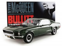 1/12 FORD MUSTANG GT 390 BULLITT - STEVE MC-QUEEN-1968-VERT-ACME US011