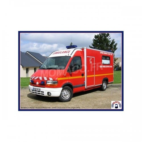 1 43 vehicules de secours utilitaires pompiers renault master type 2 gifa vsab alerte0070. Black Bedroom Furniture Sets. Home Design Ideas