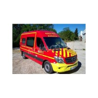 "1/43 MERCEDES-BENZ SECOURS POMPIERS MERCEDES-BENZ SPRINTER VSAV ""BMPM"" VERSION PARE-CHOC JAUNE-ALERTE0078B"