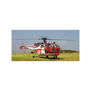 "1/43 ALOUETTE 3 SUD-AVIATION ALOUETTE 3 HELICOPTER ""SECURITE CIVILE"" BLANC/ROUGE-ALERTE0088A"