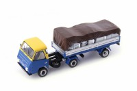 1/43 DAF CAMION MINIATURE DE COLLECTION Daf Pony bleu jaune - Pays Bas-1968-AUTOCULTATC08010