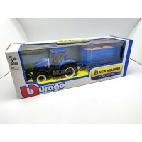 1/32 AGRICOLE MINIATURE NEW HOLLAND T7.315 AVEC BENNE-BBURAGO44067