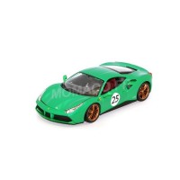 1/18 VOITURE MINIATURE DE COLLECTION Ferrari 488 GTB vert The green jewel-BURAGOBUR76101