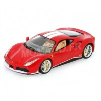 1/18 VOITURE MINIATURE DE COLLECTION Ferrari 488 GTB rouge The Schumacher-BURAGOBUR76102