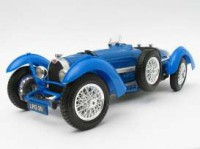 1/18 VOITURE MINIATURE DE COLLECTION BUGATTI TYPE 59 1934 BLEUE-BBURAGO12062BL
