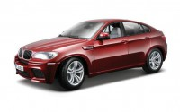 1/18 VOITURE MINIATURE DE COLLECTION BMW X6 M ROUGE-BBURAGO12081RD