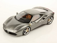 1/18 VOITURE MINIATURE DE COLLECTION Ferrari 488 GTB Grise (version luxe)BBURAGO16905GY