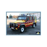 1/43 VEHICULE DE SECOURS POMPIERS LAND ROVER DEFENDER LONG SECURITE CIVILE-OLIEX53240SC