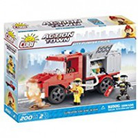Jeux de construction SECOURS Action Town - Camion de pompier - 200 pcs - 2 figurines-COBICOB1468
