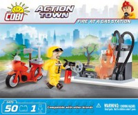 Jeux de construction SECOURS Action Town - Pompier à la station service - 50 pcs - 1 figurine-COBICOB1471