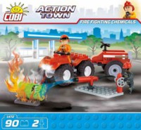 Jeux de construction SECOURS Action Town - Pompier en Quad - 90 pcs - 2 figurines-COBICOB1472