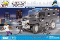 Jeux de construction FORCES DE L'ORDRE POLICE Action Town - Véhicule d'intervention - 300 pcs - 3 figurines-COBICOB1575