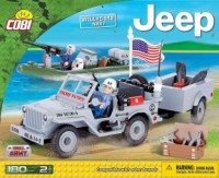 Jeux de construction FORCES DE L'ORDRE MILITAIRE Jeep Willys MB US Navy - 180 pcs - 2 figurines-COBICOB24193