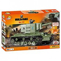 Jeux de construction FORCES DE L'ORDRE MILITAIRE World of Tank - KV 2 - 500 pcs - 1 figurine-COBICOB3004