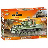 Jeux de construction FORCES DE L'ORDRE MILITAIRE World of Tank - M18 Hellcat - 465 pcs - 1 figurine-COBICOB3006
