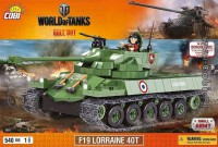 Jeux de construction FORCES DE L'ORDRE MILITAIRE World of Tank - F19 Lorraine 40T - 540 pcs - 1 figurine-COBICOB3025