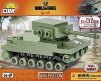 Jeux de construction FORCES DE L'ORDRE MILITAIRE World of Tanks - Nano tank M46 Patton - 66 pcs-COBICOB3027