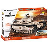 Jeux de construction FORCES DE L'ORDRE MILITAIRE World of Tank - Churchill I - 530 pièces, 1 figurine-COBICOB3031
