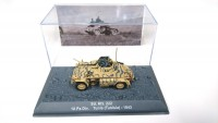 1/72 MILITAIRE MINIATURE DE COLLECTION SD.KFZ.222 10.PZ.DIV. TUNIS(TUNISIA)-1943-DEAGOSTINI