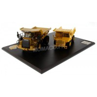 1/50 CATERPILLAR DUMPER SERIES EVOLUTION 769 ET 770 AVEC FIGURINE-DIECASTMASTER-DM85562