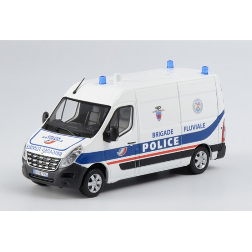 1 43 vehicule miniature de secours renault master police brigade fluviale eligor115030 vente. Black Bedroom Furniture Sets. Home Design Ideas