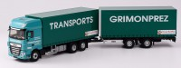 "1/43 DAF CAMION MINIATURE DE COLLECTION DAF XF MY 2017 CAMION AVEC REMORQUE ""TRANSPORTS GIMENEZ""ELIGOR116355"