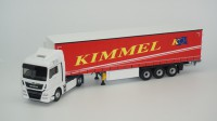 "1/43 CAMION MINIATURE DE COLLECTION MAN TGX EURO 6 C TAUTLINER ROUGE""KIMMEL""ELIGOR116360"