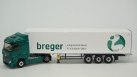 "1/43 CAMION MINIATURE DE COLLECTION MERCEDES-BENZ ACTROS 2 STREAMSPACE FOURGON TRANSPORTS ""BREGER""ELIGOR116468"